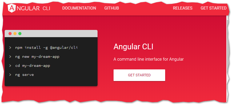 Angular CLI website
